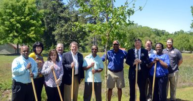 Rotarians from the three clubs at Orangeburg at the tree plantation drive. Photo: Christopher Huff, T&D