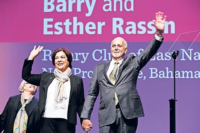 RI President Barry Rassin and his wife Esther.