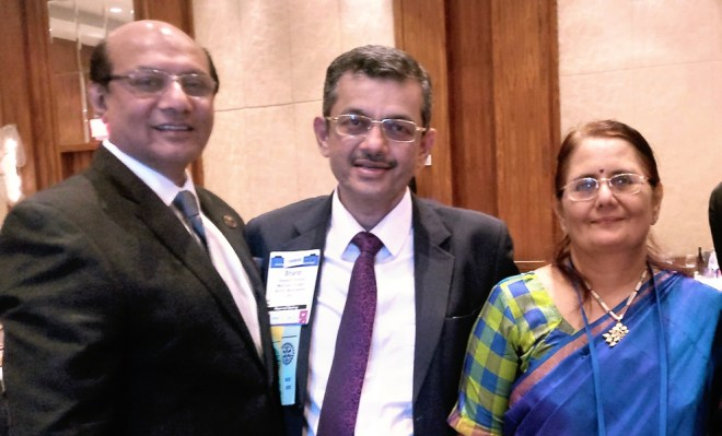 (From L) RIDNs Kamal Sanghvi, Bharat Pandya and his spouse Madhavi.