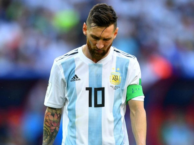 Messi consoled by wife Football legend Lionel Messi's wife Antonella Roccuzzo met and consoled her totally dejected husband at the Barcelona airport after Argentina was thrown out in the last 16 game by France. While the rest of the Argentinean team took the 18-hour flight to Buenos Aires, 31-year-old Messi, who is rumoured to be seriously considering retirement after recent dismal performances, flew to Barcelona, where the grim-faced football star refused to talk to reporters. He managed to score just one at this tournament and even messed up a penalty in a 1-1 draw with Iceland, followed by a devastating 3-0 defeat by Croatia, and the formidable Argentina was swept out of the World Cup by France with the 19-year-old sensation Kylian Mbappe scoring two goals.