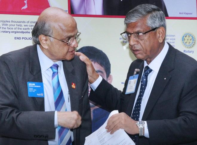 TRF Trustee Gulam Vahanvaty with PRID Y P Das.