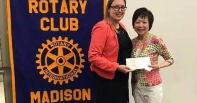 From left: Anneke Demarest, Director of Development, Preschool Advantage, with Jeannie Tsukamoto, Assistant Governor, Madison Rotary.