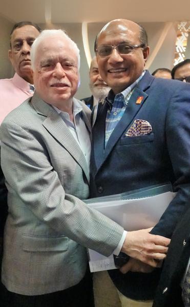 RIPN Designate Sushil Gupta with RIDE Kamal Sanghvi.
