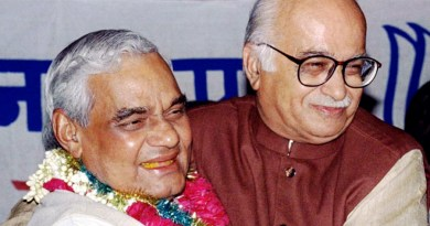 With L K Advani.