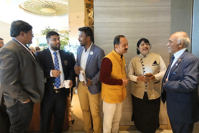 DG Gustad Anklesaria (third from R) seen with other delegates at the Rotaract Conclave.