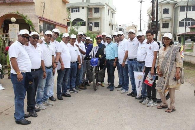 Sunita Choken with members of RC Raigarh Steel City.