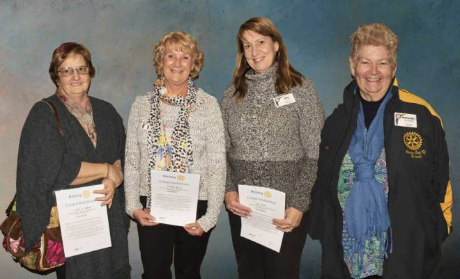 WELCOME ABOARD: The Rotary Club of Cessnock's newest members Janette Owens, Sharon Waite, Gai Good and Maggie Johnson.