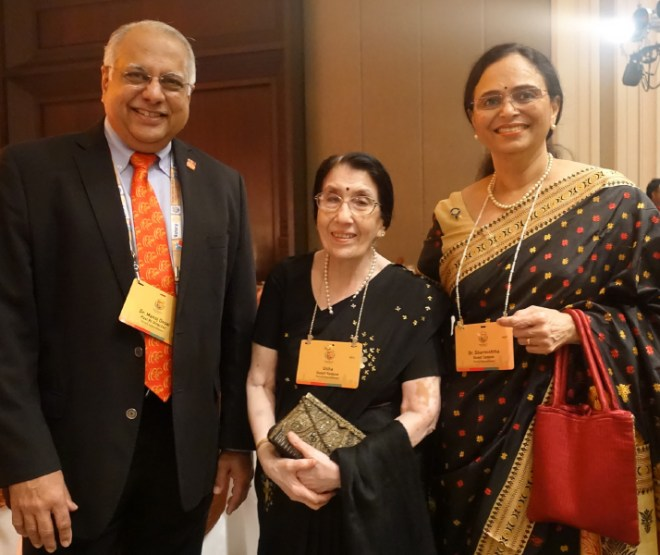 PRID Manoj Desai, Usha Saboo and Sharmishtha Desai.