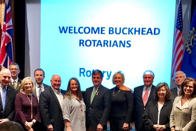 The Buckhead Rotary Club came to Victoria at the beginning of October to visit the Oak Bay Rotary Club and get a tour of the Victoria Native Friendship Centre. Photo: Submitted