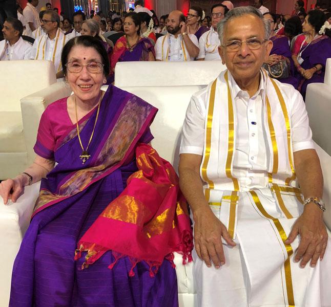 PRIP Rajendra K Saboo with Usha.
