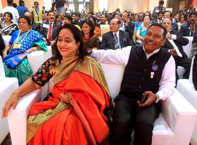 RC Bangalore Orchards President D Ravi Shankar and his wife Paola.