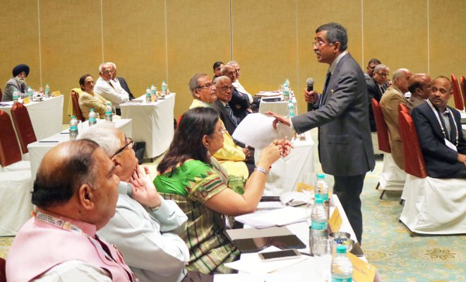 CoL Seminar Chair T N Subramanian addressing the delegates.