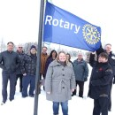 Rotary flag hoisted at city hall in Canada