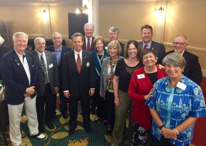 At a recent Coronado Rotary meeting a group of Rotary Past Governors came to join Coronado Rotary President Ivan Dunn in congratulating Dan Gensler on his selection as Rotary District Governor for 2021-22.