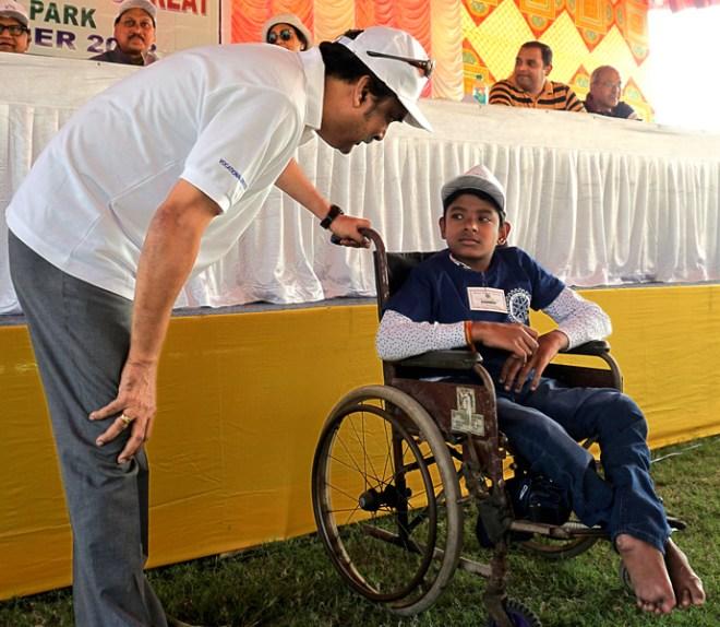 Neeraj Kumar is happy to be part of the Children's Treat fun.