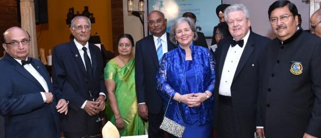 (From L) PRID Ashok Mahajan, Firoz Kachwalla, Mala, RID C Basker, Gay, RIPE Maloney and DG Shashi Sharma.