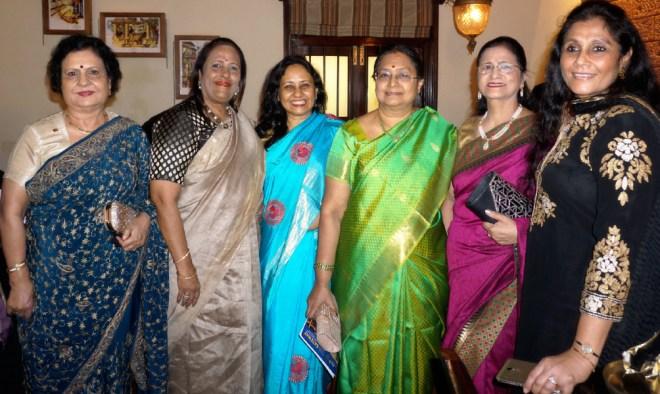 (From L) Manju Jetley, Rita (wife of D 3141 DG Shashi Sharma), Nandita (wife of D 3142 DG Ashes Ganguly), Mala Basker, Nayantara Mahajan and Ranju (wife of PDG Ajay Gupta).
