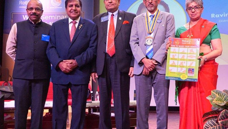 From L: PDG K S Nagendra, RI WinS Committee Member Ramesh Aggarwal, Global WinS Chair P T Prabhakar, DG Suresh Hari and Rtn Meenakshi Bharat.