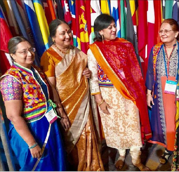(From L) Mala Basker, Vanathy Ravindran, Sonal Sanghvi and Madhavi Pandya.