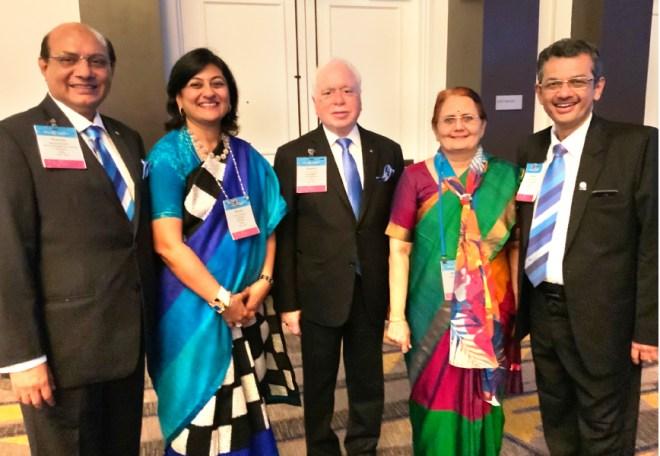 From L: RIDE Kamal Sanghvi, Sonal, RIPN Sushil Gupta, Madhavi and RIDE Bharat Pandya.