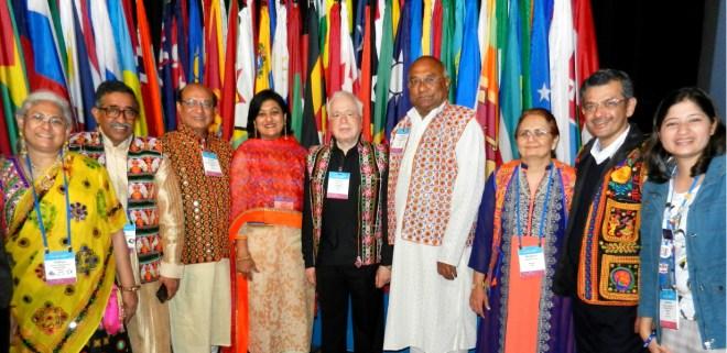 From L: Vidhya, PDG T N Subramanian, RIDE Kamal Sanghvi, Sonal, RIPN Sushil Gupta, RID C Basker, Madhavi, RIDE Bharat Pandya and D 3170 DRR Nishita Pednekar.