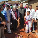 Bhoomi puja done for two homes in Kodagu
