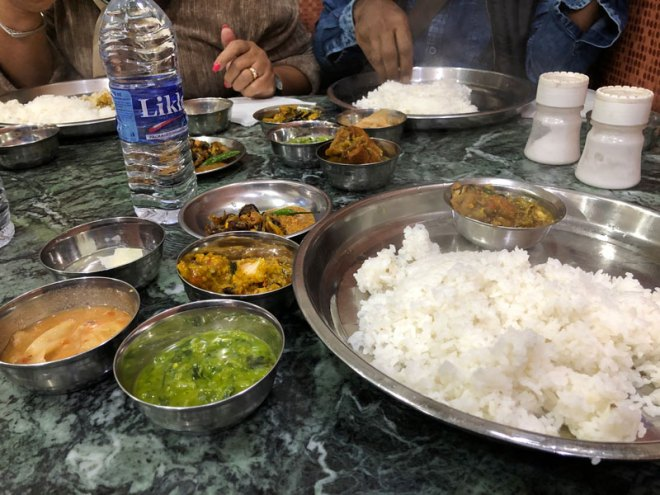 Local food at Hotel Imoinu in Imphal.