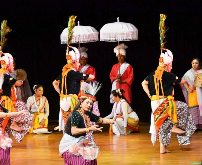 Dancers perform the Lai Haraoba.