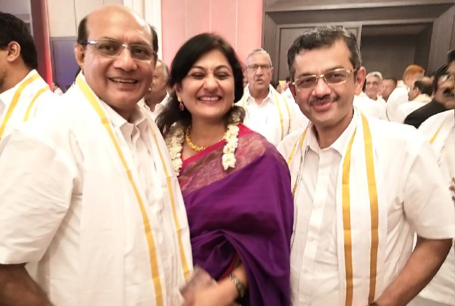 RIDE Kamal Sanghvi with Sonal and RIDE Bharat Pandya at the Chennai Institute.
