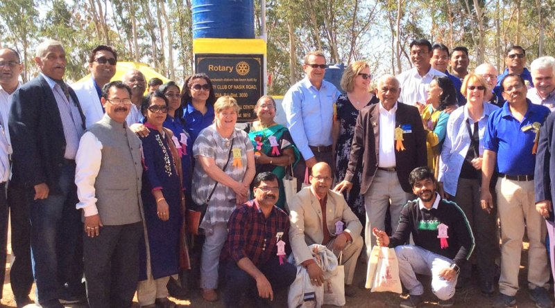 Rotarians of RC Nasik Road with the Australian partners at the project site. PDG Dattatraya Deshmukh is also in the picture.