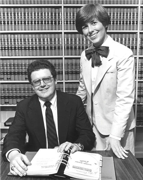 Maloney and Gay in 1980, the year he joined Rotary