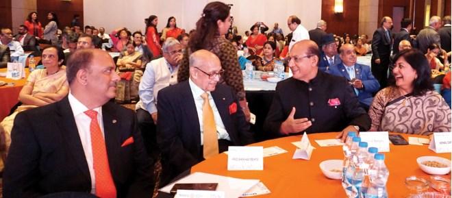 From L: PRID Shekhar Mehta, PRIP Kalyan Banerjee, RID Kamal Sanghvi and Sonal at the Utsav event in Kolkata.