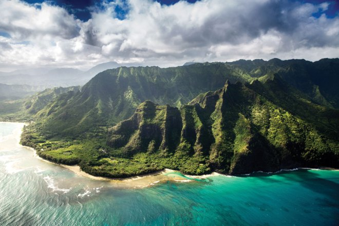 Along with Diamond Head, the lush, corrugated Ko'olau mountains are one of Oahu's two national natural landmarks.