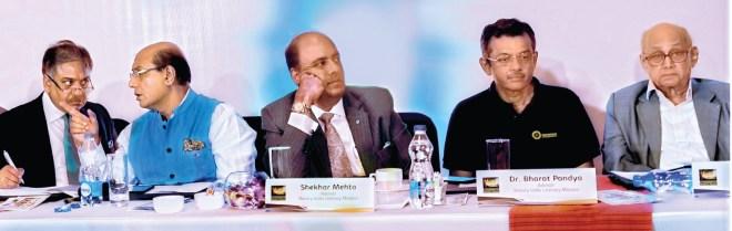 From L: PDG Vinod Bansal, RID Kamal Sanghvi, RIPN Shekhar Mehta, RID Bharat Pandya and PRIP Kalyan Banerjee at the Ignite meet.