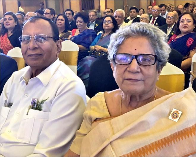 RC Calcutta's past president Dr S K Sharma and its first woman president Nandita Sen.