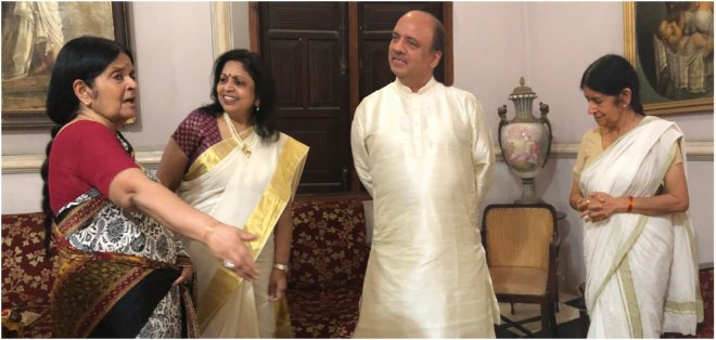 From L: Gouri Pooyam, Rashi,  RIPN Shekhar Mehta and Gouri Aswathi.
