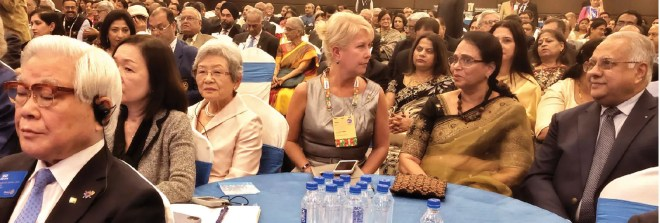 TRF Trustee Seiji Kita, Nobuko, Trustee Jennifer Jones, Sharmishtha and PRID Manoj Desai.