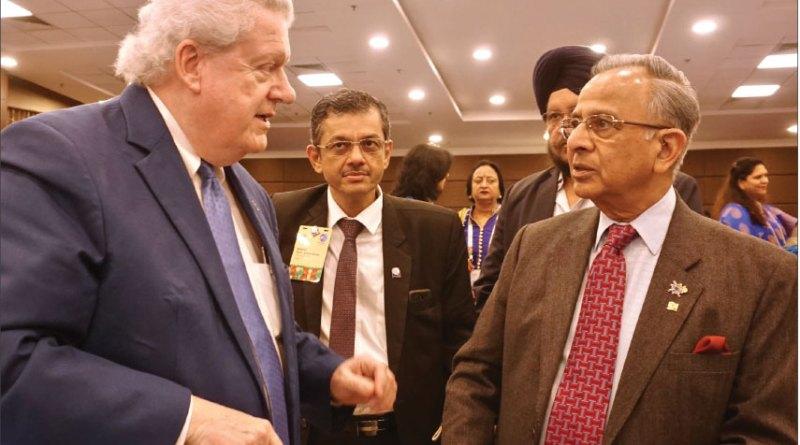 RI President Mark Maloney, RID Bharat Pandya and PRIP Rajendra Saboo.