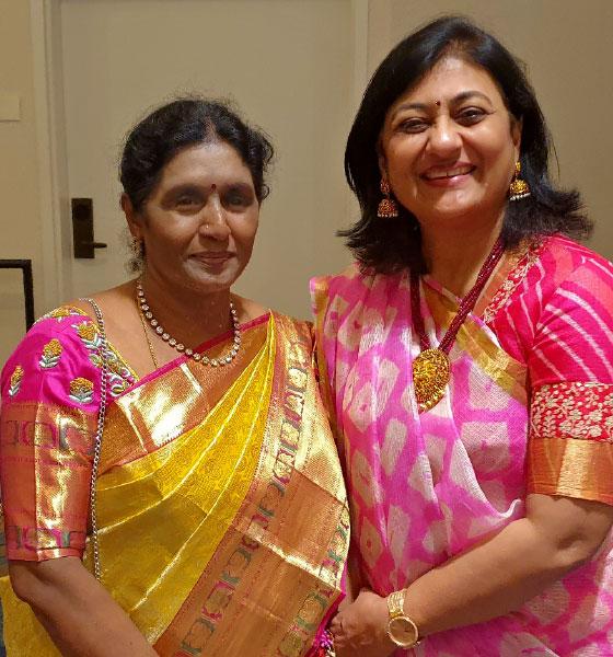 Sonal Sanghvi and Mahalakshmi, wife of DGE Chinnapa Reddy.