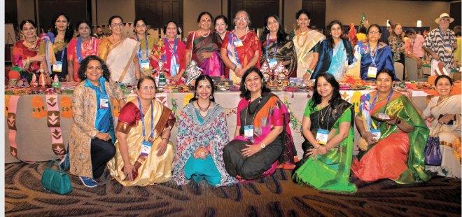 Sangita Bansal, Madhavi Pandya, Sonal Sanghvi and Vanathy Ravindran with spouses of some of the DGEs.