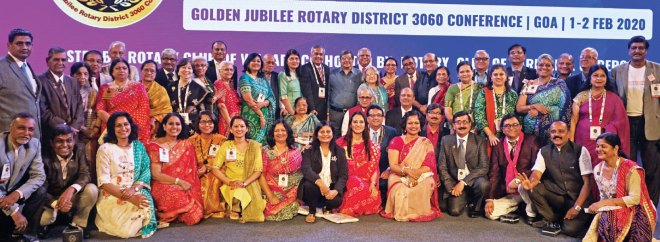 PDGs and their spouses with senior Rotary leaders.
