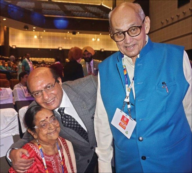 PRIP Kalyan Banerjee, Binota and RID Sanghvi; TRF Trustee Chair Gary Huang and Corinna.