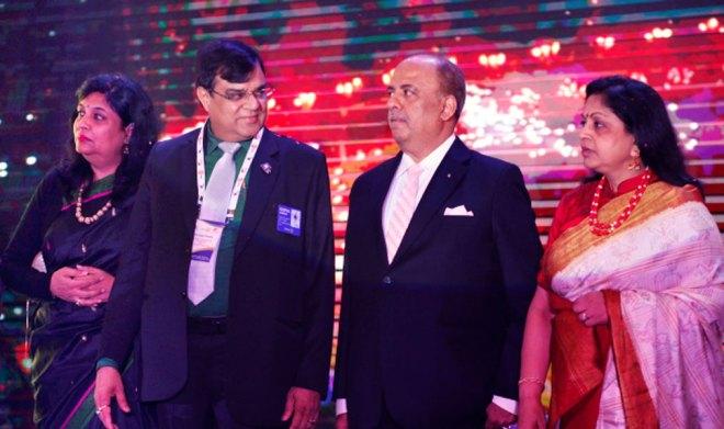 From L: Avita and DG Gopal Khemka along with RIPN Shekhar Mehta and Rashi.