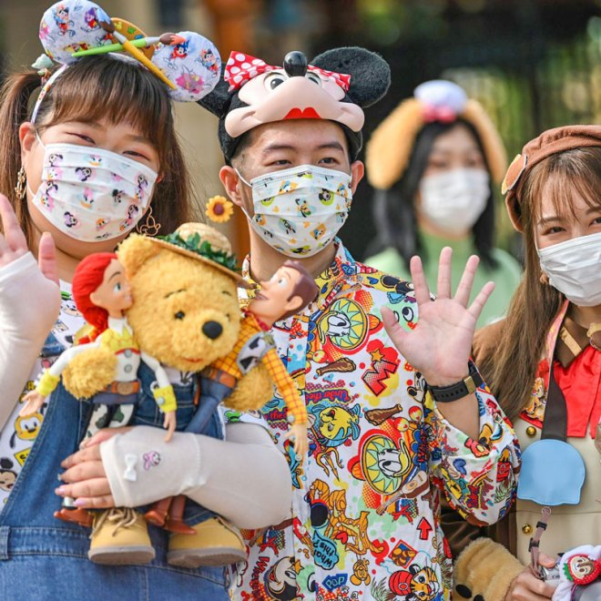 The Disneyland in Shanghai reopened with mandatory face masks.
