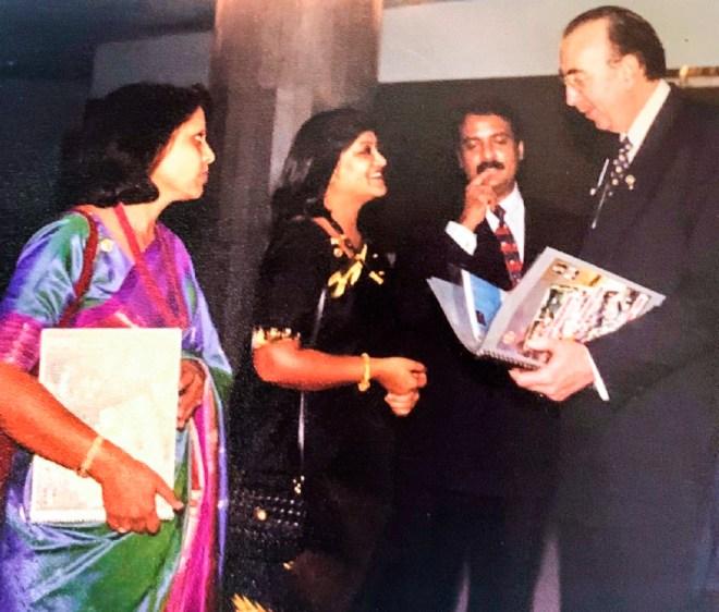 Devlyn with RIPN Shekhar Mehta and Rashi (left).