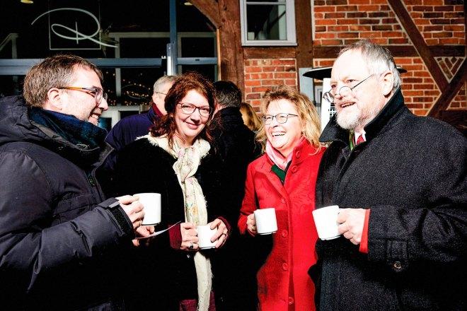 "Enjoying club friendships are (from left) Karsten Lessing, Susanne Lessing, Andrea ""Sunny"" Schulz, and Harro-Meinert Petersen."