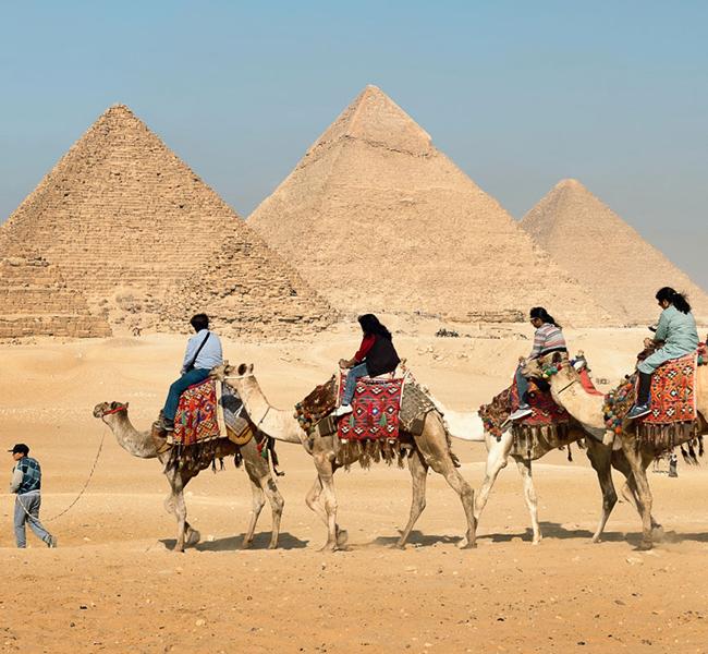 The Pyramids of Giza.