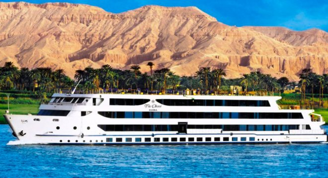 A luxury Nile River cruise liner.