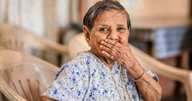 Faustina D Mello, a beneficiary of RC Panaji Riviera's cataract surgery project.