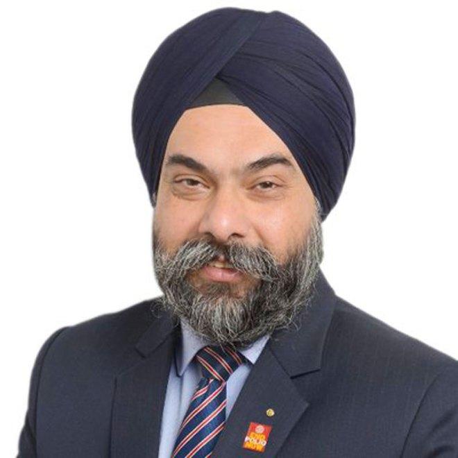 CA Davinder Singh Chartered accountant, RC Amritsar, RID 3070